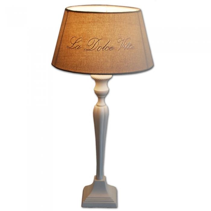 Light & Living - Stilvoller Blickfang, Tischleuchte Höhe 51cm mit weißen eleganten Lampenfuß eckig u